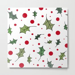 Christmas holly 1 Metal Print