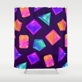 Gimme Gimme - Eighties Retro Crystals Shower Curtain