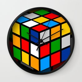Multicolored Rubik Cube Wall Clock