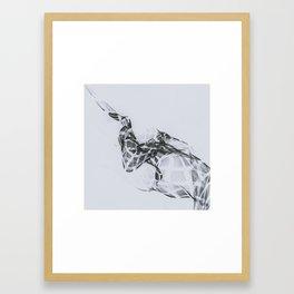 incomplete curves Framed Art Print