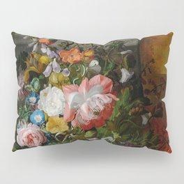 Rachel Ruysch Roses Convolvulus Poppies Other Flowers in Urn Pillow Sham