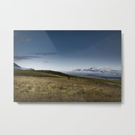 Cabin, Eyjafjörður, Iceland Metal Print