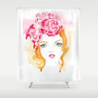 doll Shower Curtains featuring Doll by S'ANNie