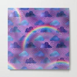 Rainy Day Rainbow Weather Metal Print