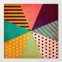 umbrella Canvas Prints featuring Umbrella by Louise Machado
