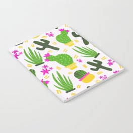 Cactus Pattern of Succulents Notebook