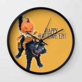 Rucus Studio Halloween Mischief Wall Clock