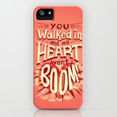 Heart went boom iPhone SE Slim Case