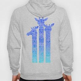 Giraffes – Blue Ombré Hoody