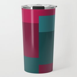 Squares II in Blues and Pinks Travel Mug