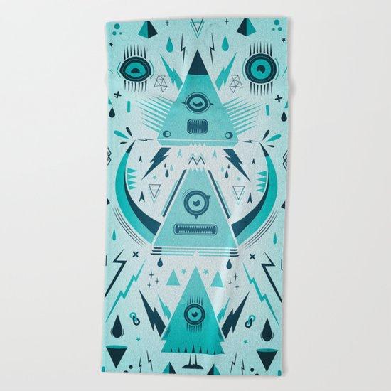Triangle Alien Transformer Attack  Beach Towel