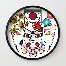 kitsune no yaiba Wall Clock