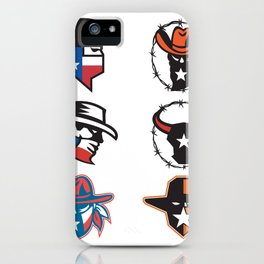 Texas Outlaw Mascot Collection iPhone Case