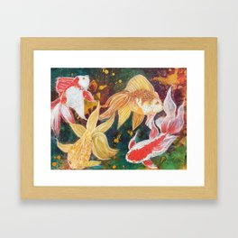 Wild Goldfish Dreams Framed Art Print