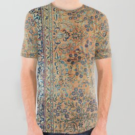 Kashan Floral Persian Carpet Print All Over Graphic Tee