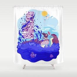Tiny Worlds - Cinnabar Island Shower Curtain