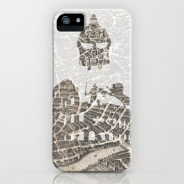 Rome of Gladiators - vintage map iPhone Case