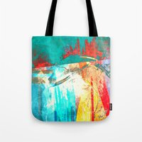 surfing Tote Bags featuring Surfing by Fernando Vieira