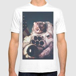 Beautiful cat astronaut T-shirt