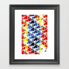 Woman Emerging Pattern F Framed Art Print