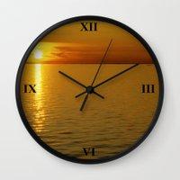 swedish Wall Clocks featuring Swedish Sunset by LesImagesdeJon