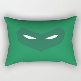 Green Lantern Mask (Hal Jordan) Rectangular Pillow