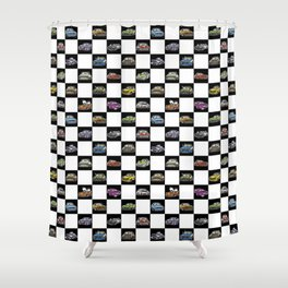 Crazy Car Art 0158 Shower Curtain