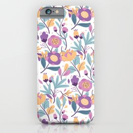 Colorful Exotic Floral pattern iPhone Case