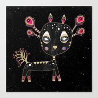 fawn Canvas Prints featuring Fawn by Elisabeth Fredriksson