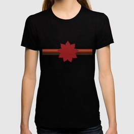 9 Point Star on Red T-shirt