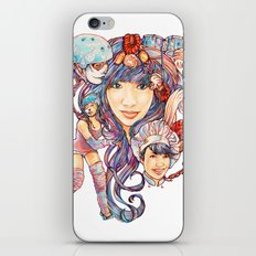 Pintsizevillan portrait iPhone & iPod Skin