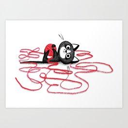 Paws off! Art Print