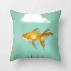 BALLOON FISH  III Throw Pillow