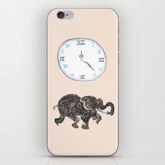 Elefante reloj iPhone & iPod Skin