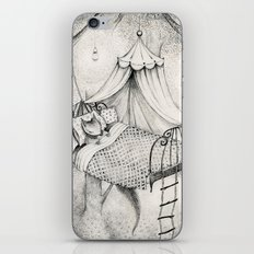 bed in the woods iPhone & iPod Skin