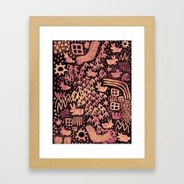Autumn Bunnies Framed Art Print