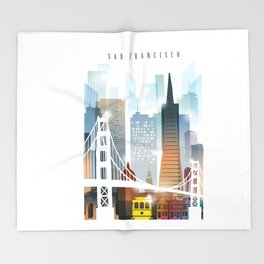 City of San Francisco painting Throw Blanket