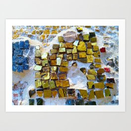 Tesserae in Chora Church, Istanbul Art Print