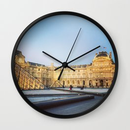 Louvre by Dusk Wall Clock