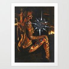 Psychoactive Bear 3 Art Print
