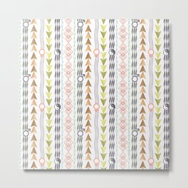 Abstract ethnic pattern. Metal Print