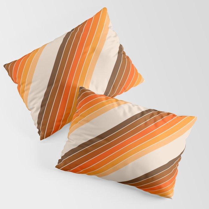 Tan Candy Stripe Kissenbezug