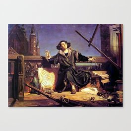Matejko-Astronomer Copernicus-Conversation with God Canvas Print