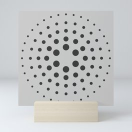 Mid-Century Modern Art - Spiral Dots Black & Grey Mini Art Print