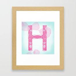 Floral Letter 'H' Framed Art Print