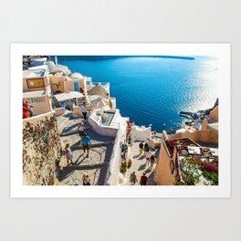 Oia,Santorini Art Print
