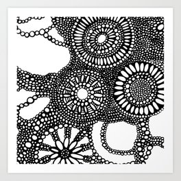 graphic dots pattern Art Print