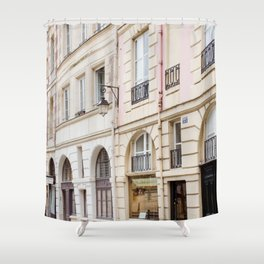 Left Bank Pink on Rue Saint-Jacques Shower Curtain