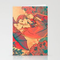 umbrella Stationery Cards featuring Umbrella by Arisu