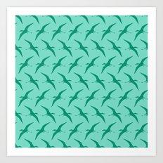 Pterodactyls - Flying Reptiles Art Print